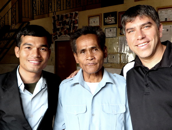 Buddy & Paul with man
